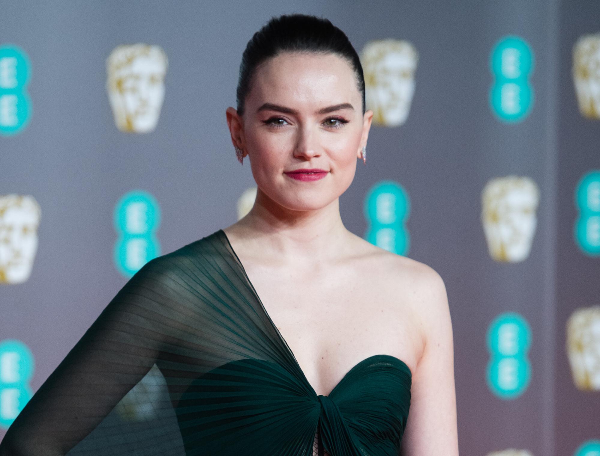 Daisy Ridley at the EE British Academy Film Awards 2020 at Royal Albert Hall on Feb. 02, 2020.