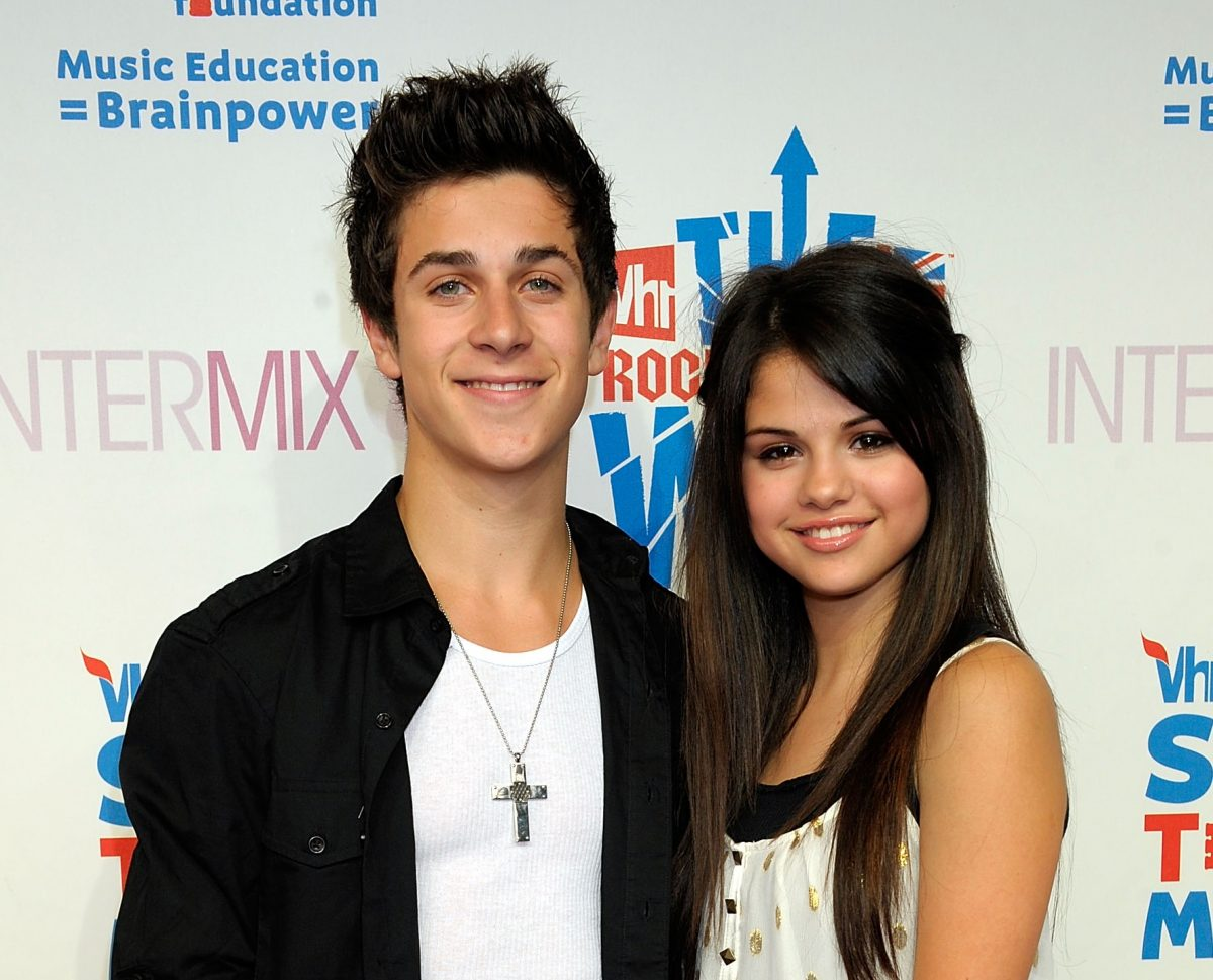 David Henrie and Selena Gomez attend Intermix's 3rd Annual 'VH1 Rock Honors' VIP Party at Intermix on July 11, 2008 in Los Angeles, California.