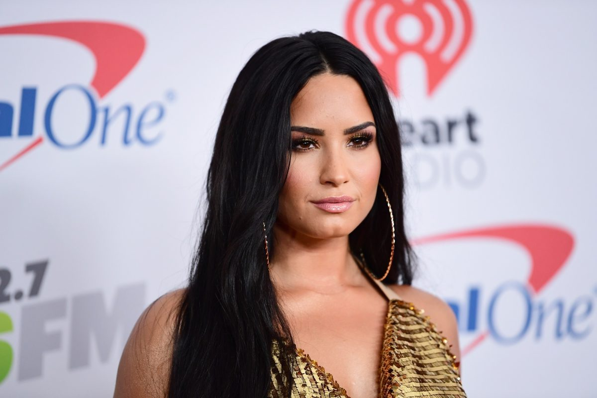 Demi Lovato poses in the press room during 102.7 KIIS FM's Jingle Ball 2017 presented by Capital One at The Forum on December 1, 2017 in Inglewood, California.