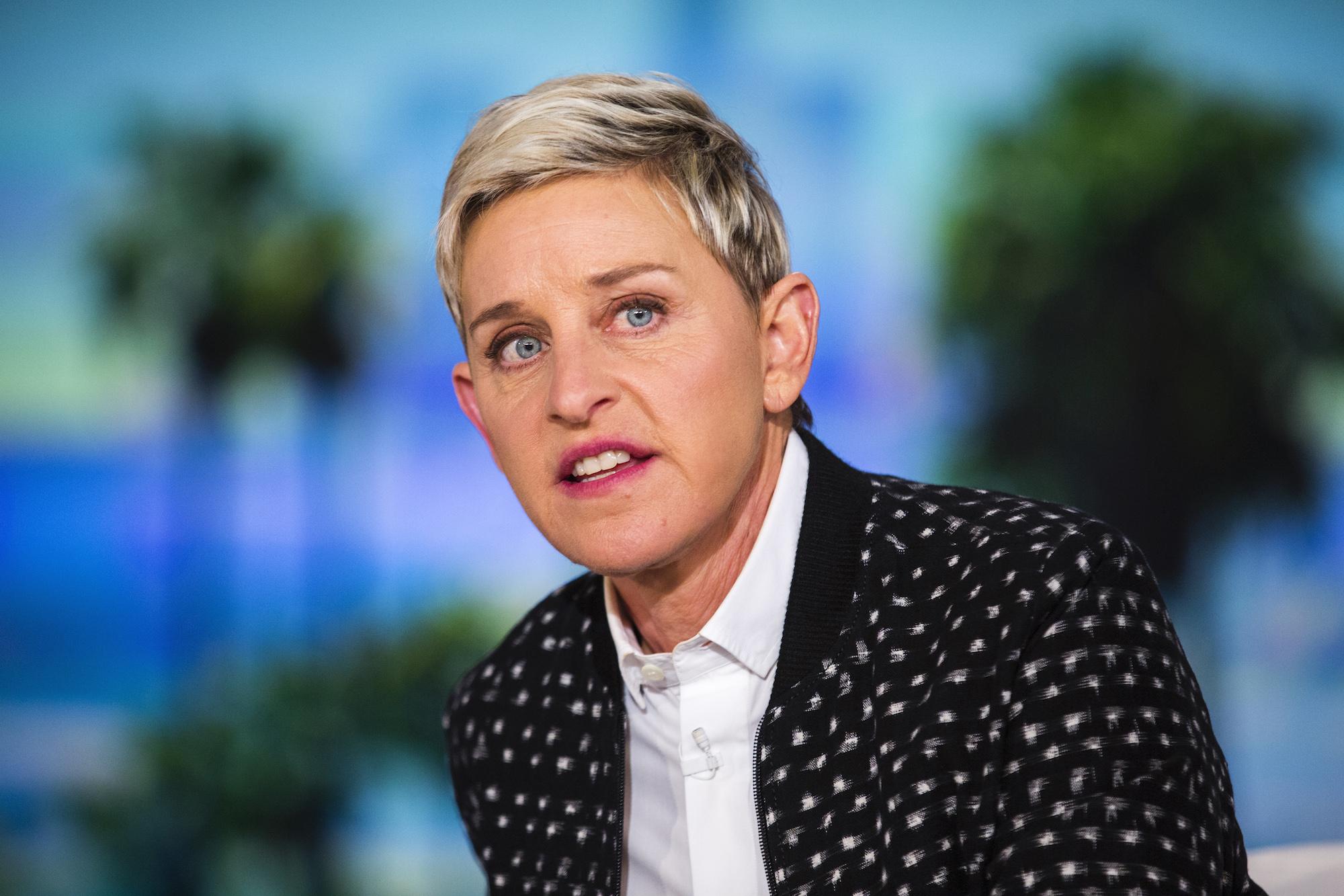 Ellen DeGeneres during a taping of 'The Ellen DeGeneres Show,'  May 24, 2016.