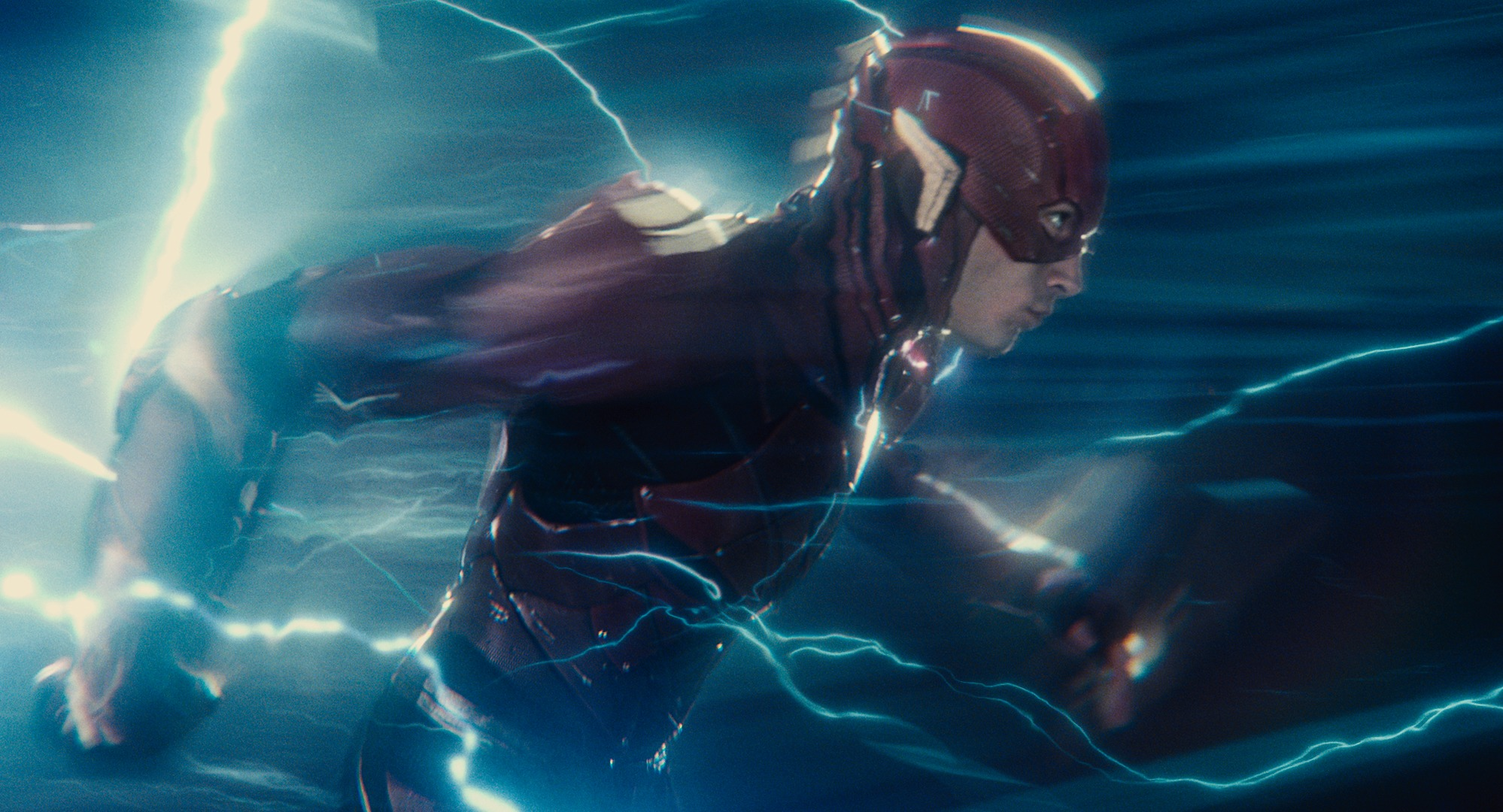 Ezra Miller as The Flash in 'Justice League'