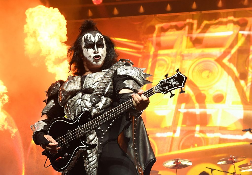 Gene Simmons with his guitar