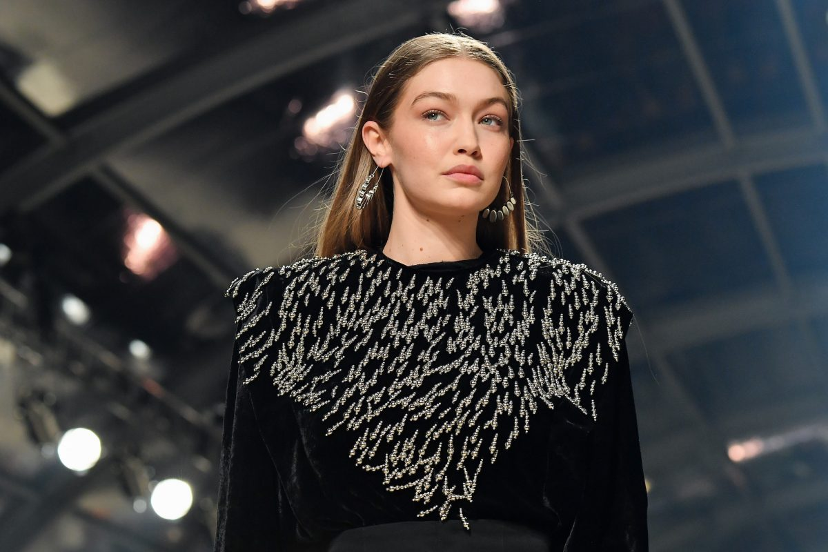Gigi Hadid walks the runway