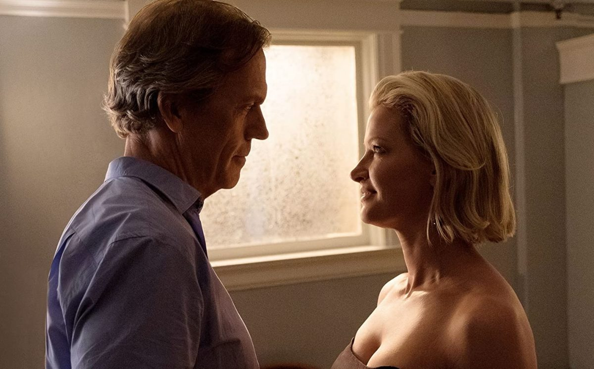 Hugh Laurie and Gretchen Mol in 'Chance'
