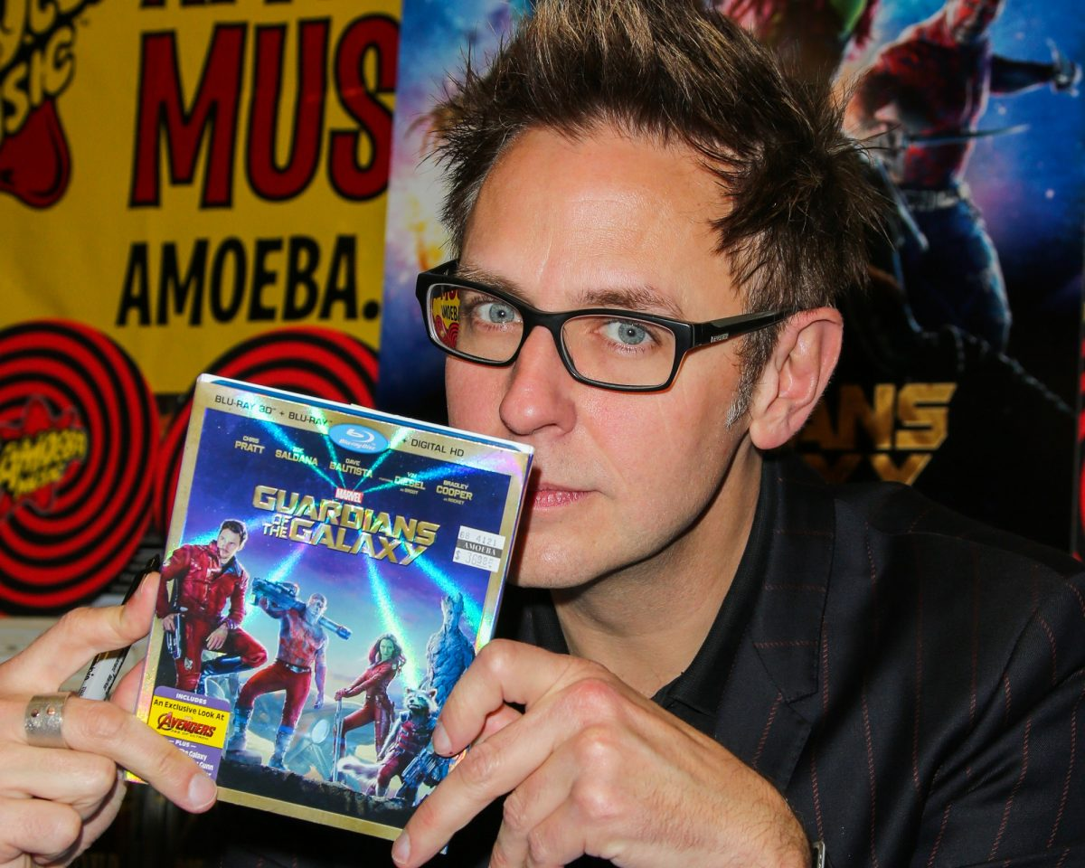 Filmmaker James Gunn sign copies of his Marvel film 'Guardians Of The Galaxy' at Amoeba Music on December 12, 2014 in Hollywood, California.