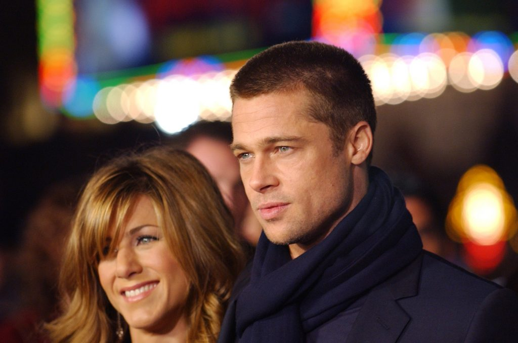 Jennifer Aniston and Brad Pitt during 'Along Came Polly' Los Angeles Premiere at Mann's Chinese Theater in Hollywood, California, United States.