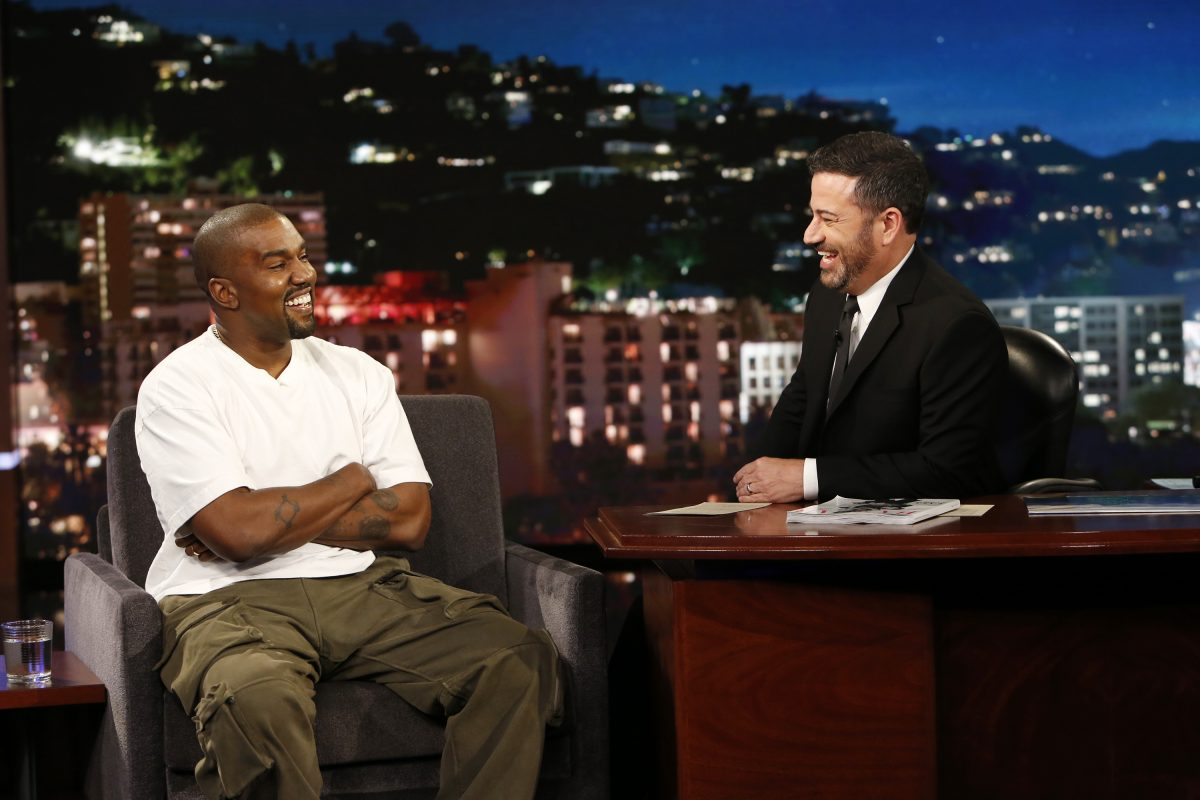 Kanye West and Jimmy Kimmel on 'Jimmy Kimmel Live'
