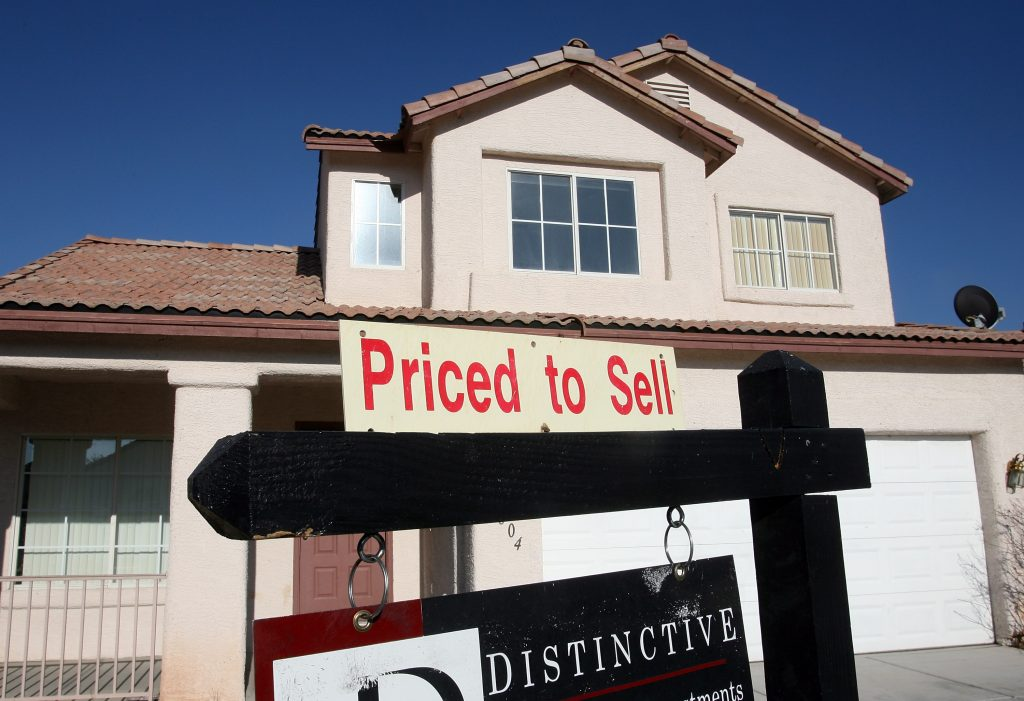 A home for sale in Las Vegas