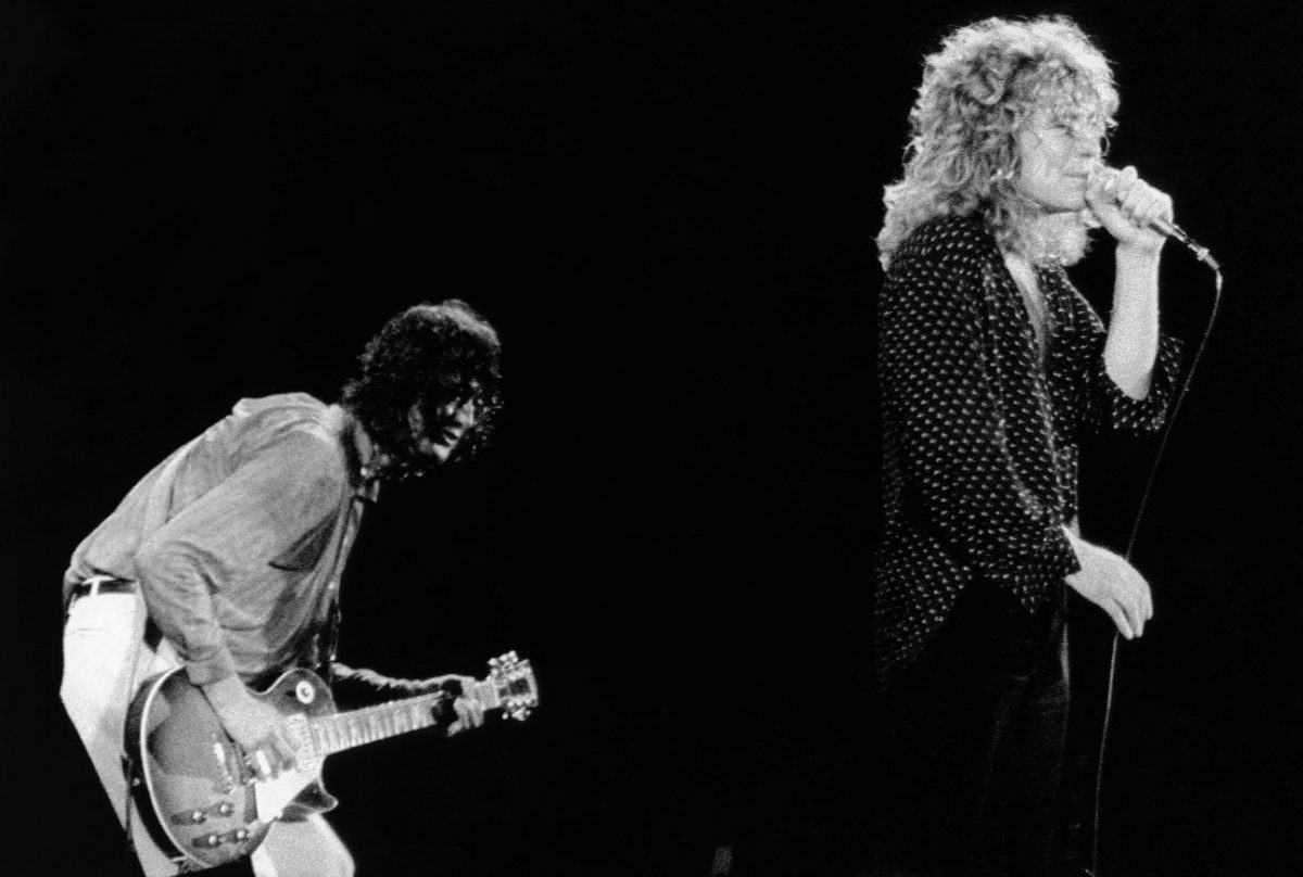 Led Zeppelin on stage '79
