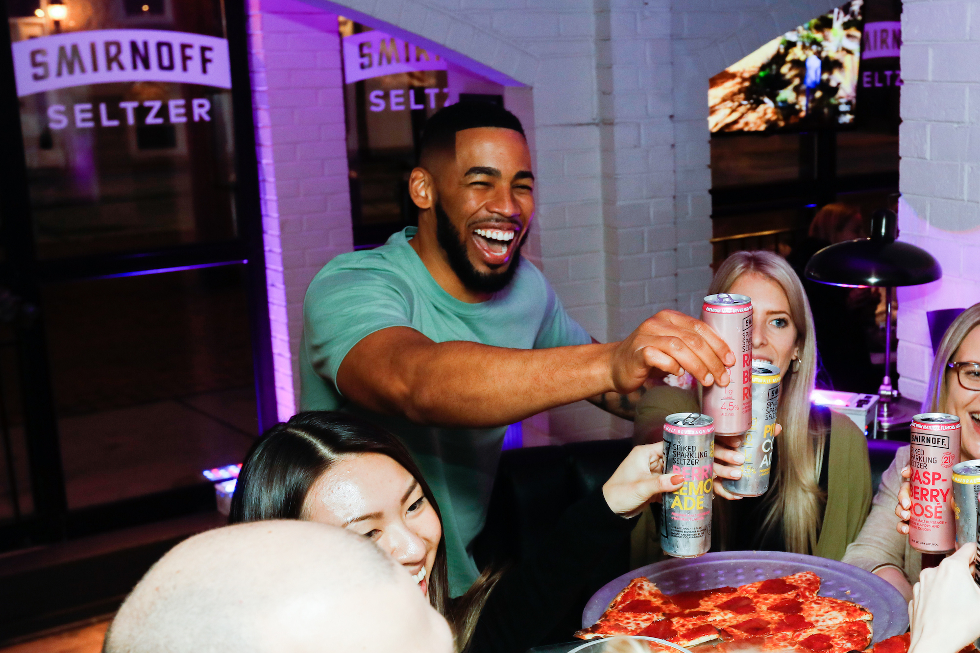 Mike Johnson and fans toast to the end of an amazing Bachelor season with Smirnoff Seltzer on March 10, 2020.