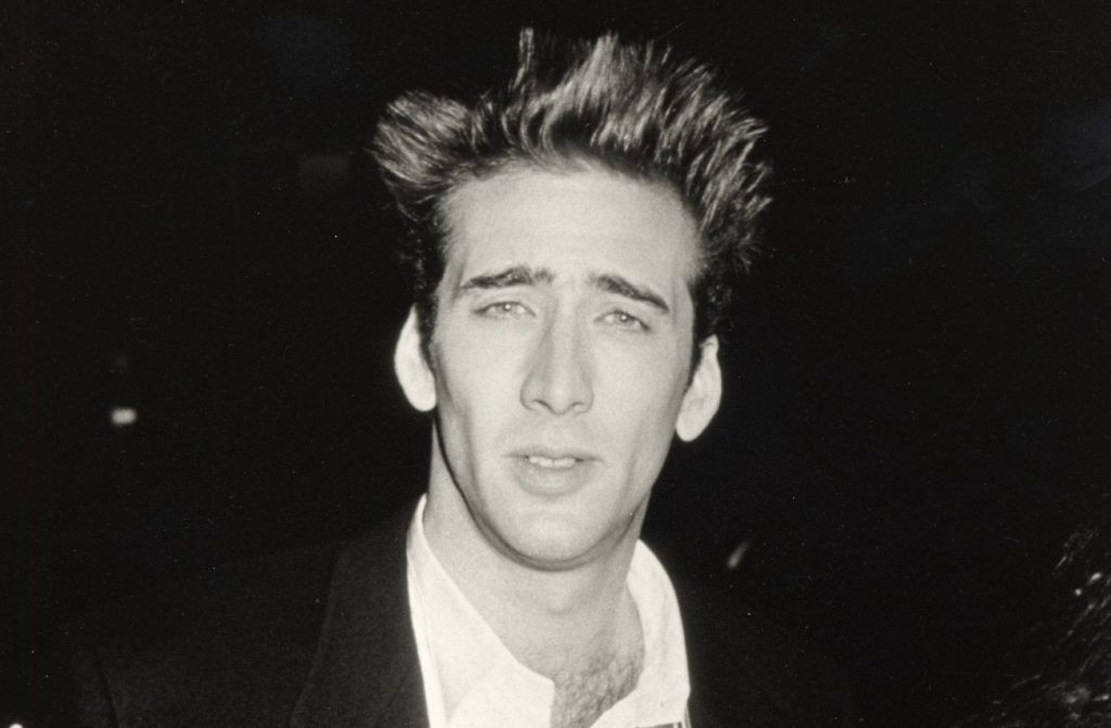 Nicolas Cage at the 'Peggy Sue Got Married' premiere