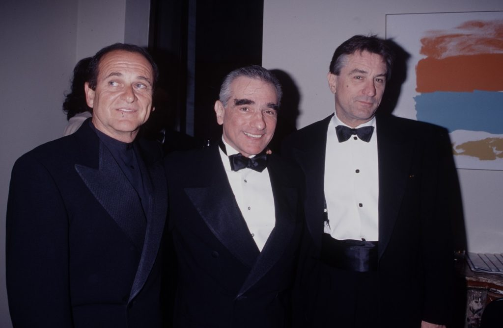 Scorsese with Pesci and De Niro