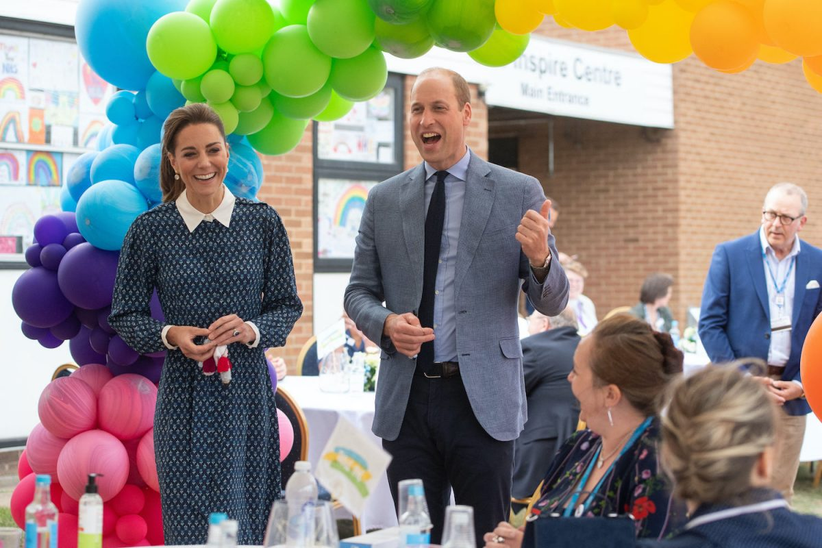 Kate Middleton and Prince William visit to Queen Elizabeth Hospital in King's Lynn as part of the NHS birthday celebrations on July 5, 2020