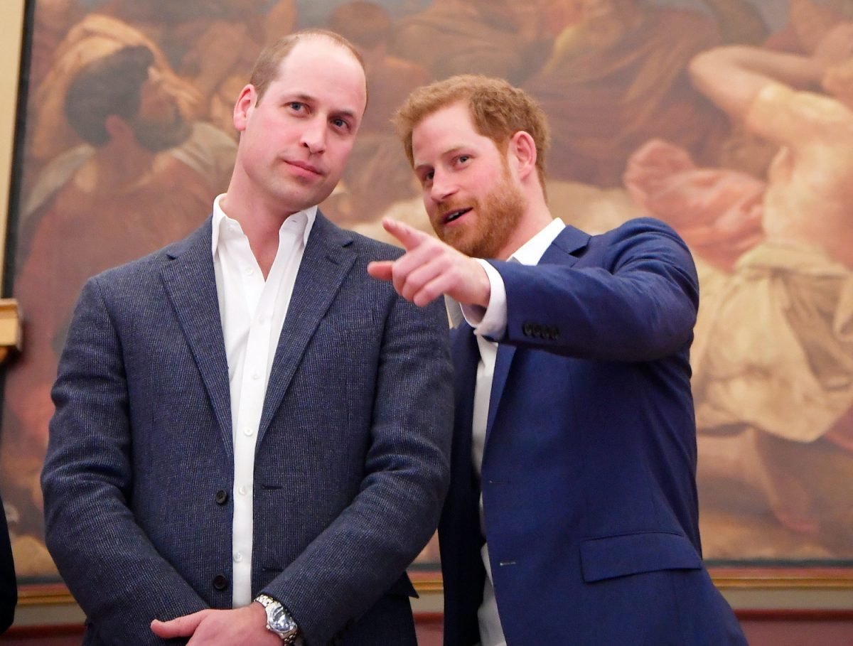 Prince William and Prince Harry attend the opening of the Greenhouse Sports Centre on April 26, 2018