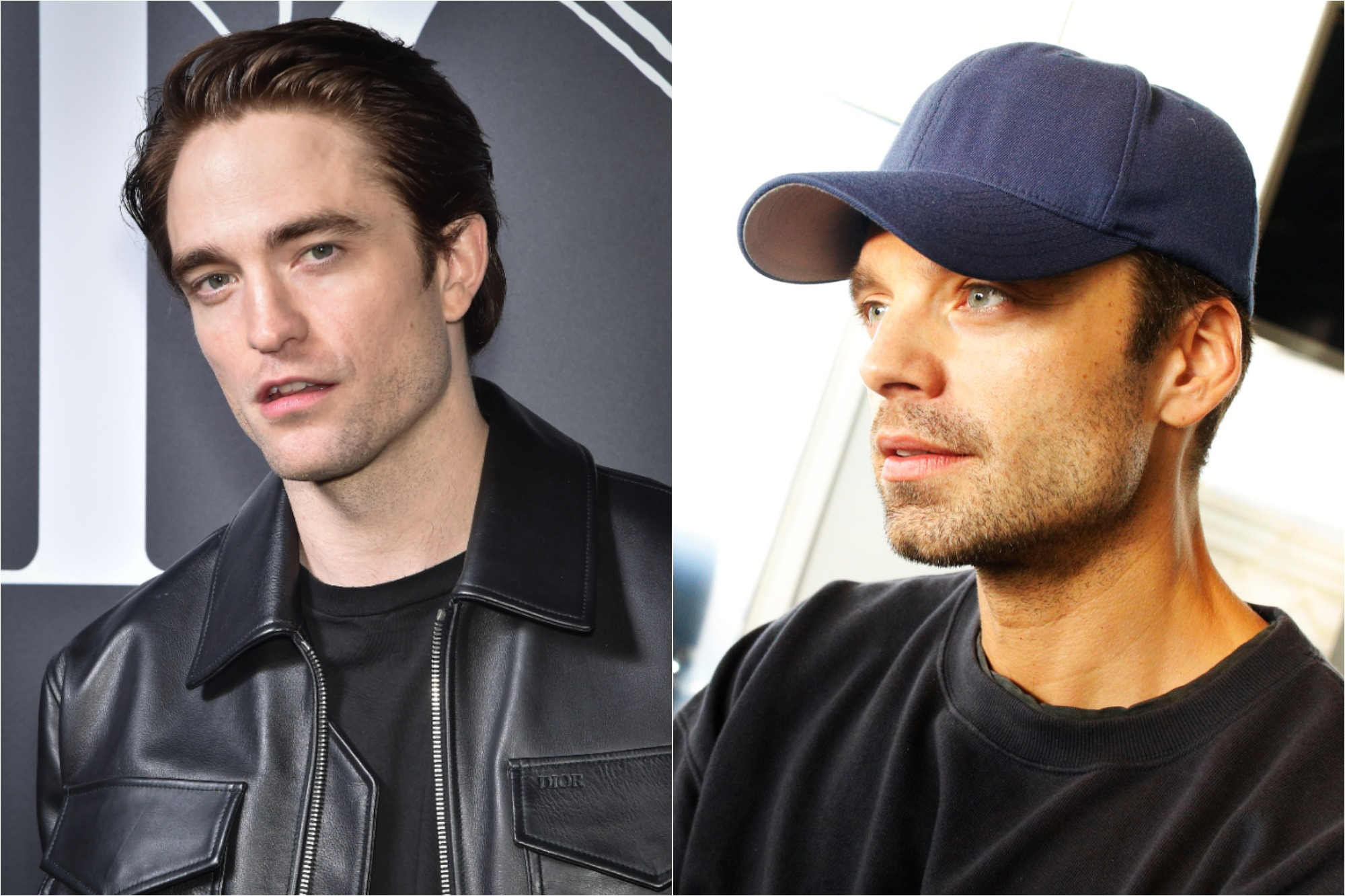 Robert Pattinson at the Dior Homme Menswear Fall/Winter 2020-2021 show, part of Paris Fashion Week on Jan. 17, 2020 / Sebastian Stan at the MDC Productions' 3rd Annual Face Off to Fight Cancer at the Sky Rink at Chelsea Piers on Oct. 27, 2019.