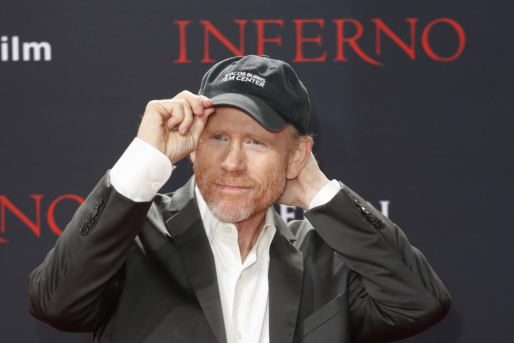 Ron Howard wearing a hat