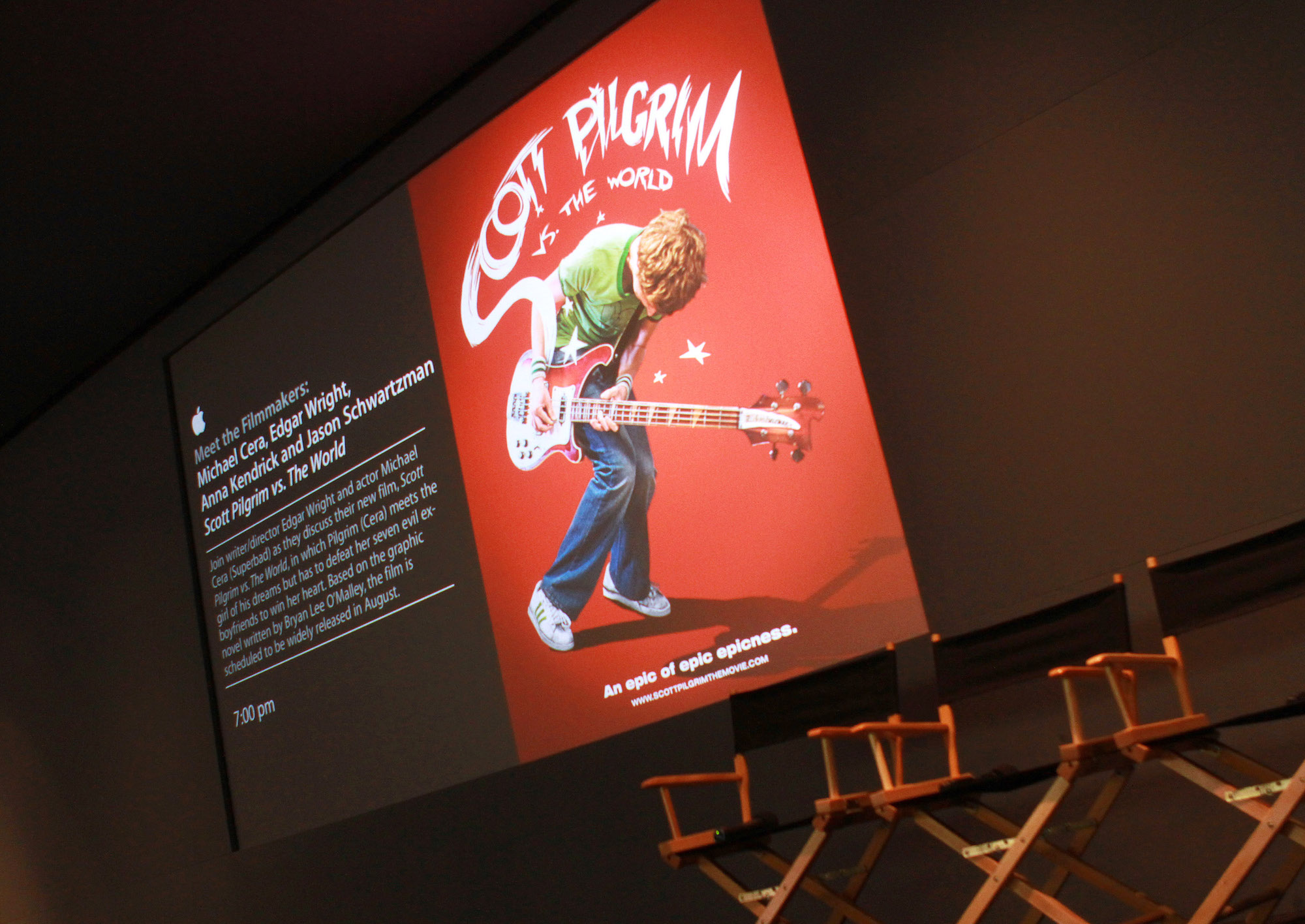 Inside the Meet The Filmmakers with the cast of 'Scott Pilgrim Vs. The World' at the Apple Store Soho on August 3, 2010