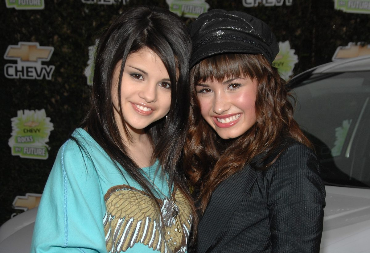 Selena Gomez and Demi Lovato at 'Chevy Rocks the Future' held at the Walt Disney Studios on February 19, 2008 in Burbank, California.