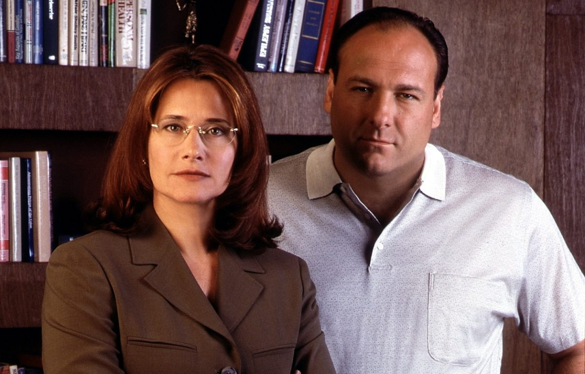 Lorraine Bracco and James Gandolfini posed in 'The Sopranos'