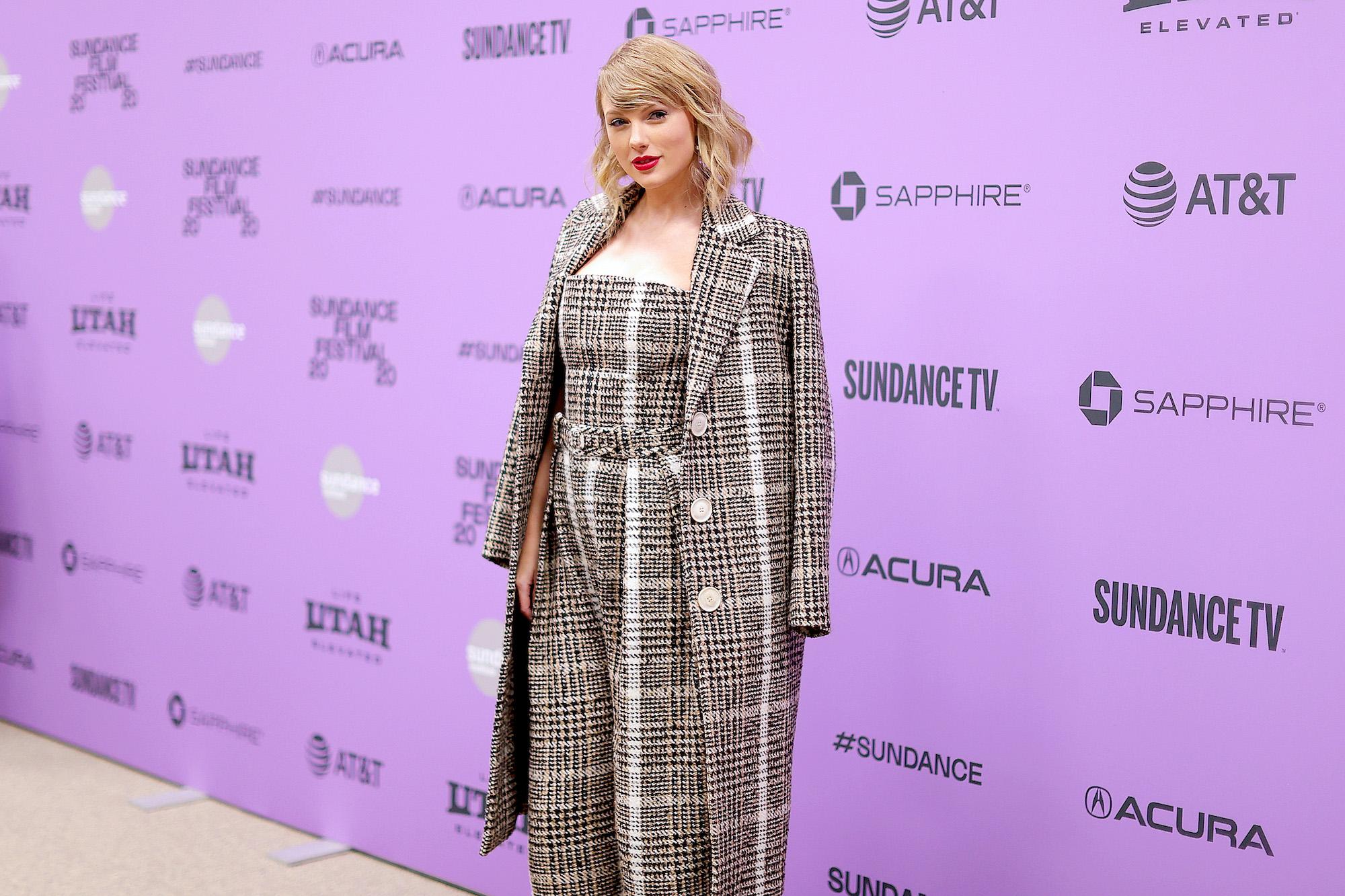 Taylor Swift at the 2020 Sundance Film Festival premiere of 'Miss Americana' on Jan. 23, 2020.