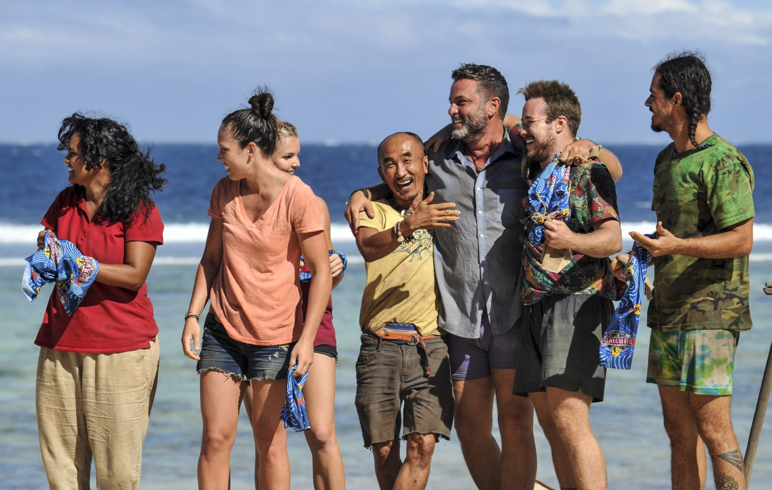 "Sandra Diaz-Twine, Sarah Lacina, Tai Trang, Jeff Varner, Zeke Smith and Oscar ""Ozzy"" Lusth of Survivor"