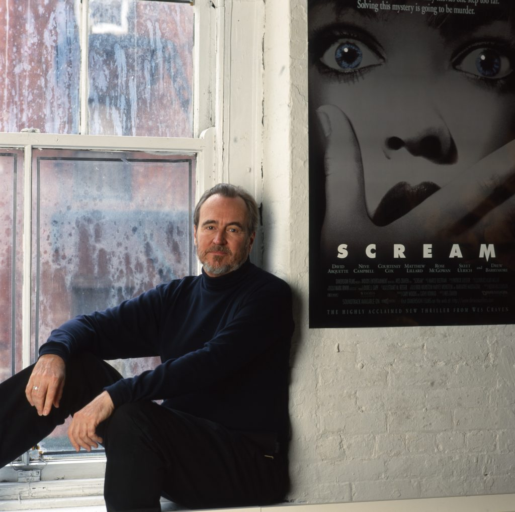 Wes Craven by a Scream poster