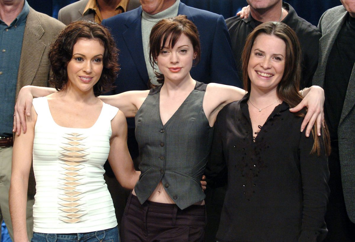 Alyssa Milano, Rose McGowan, and Holly Marie Combs celebrate 150 episodes of 'Charmed'