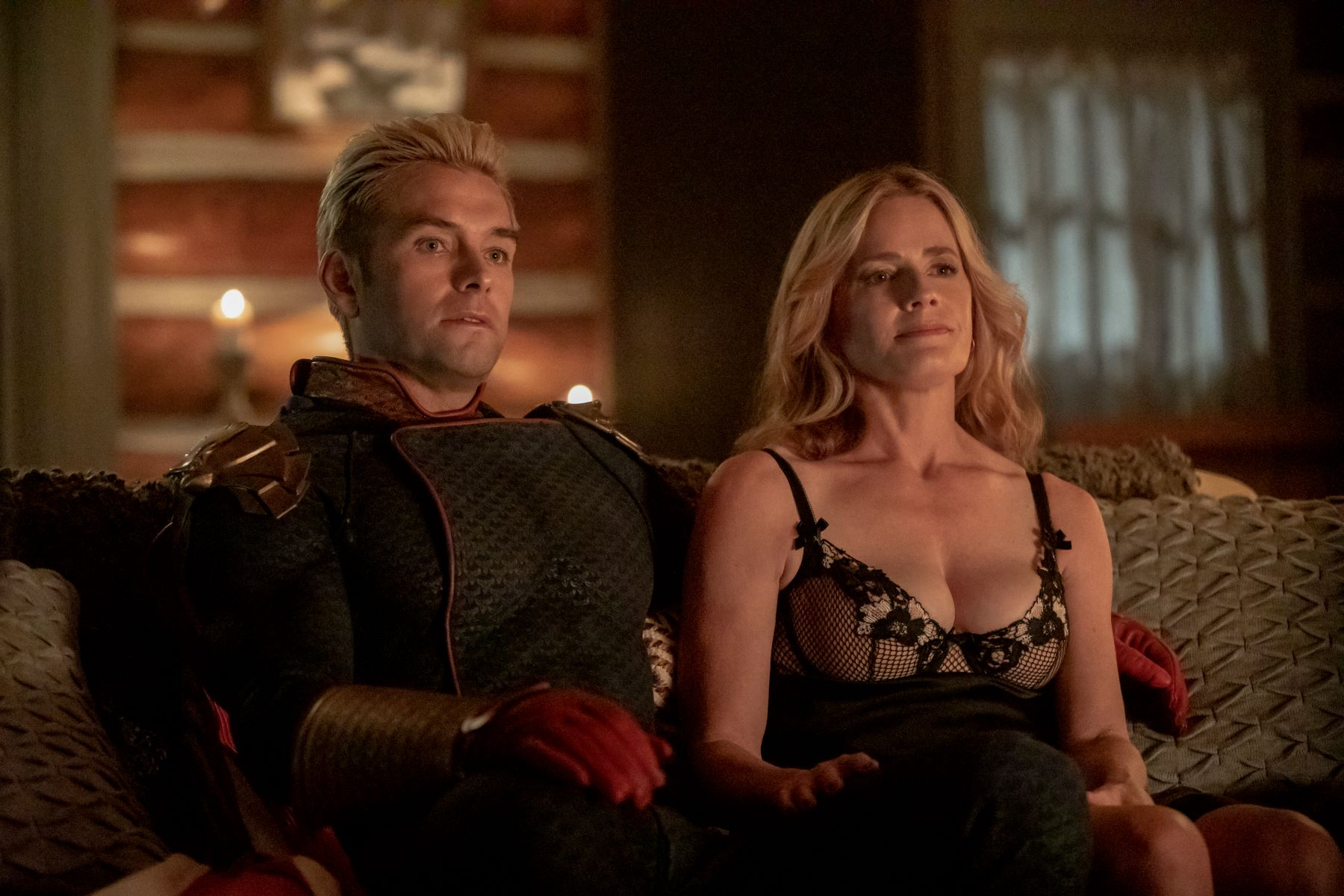 Antony Starr and Elisabeth Shue in 'The Boys'