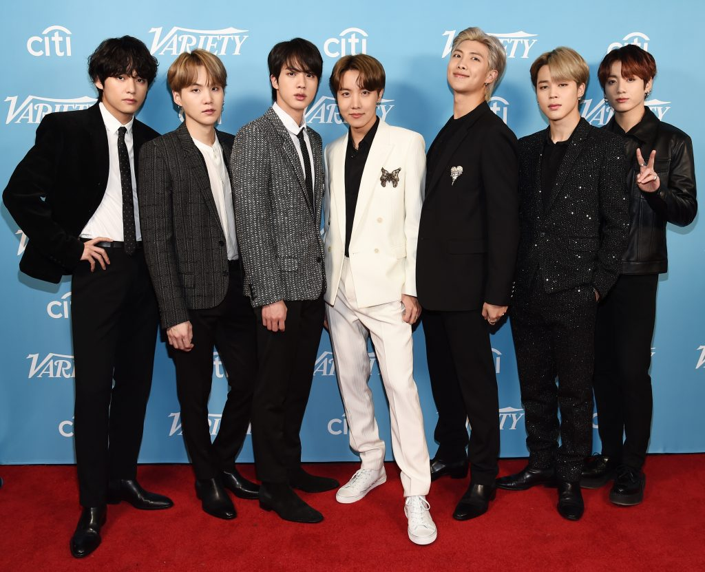 BTS arrives at the 2019 Variety's Hitmakers Brunch