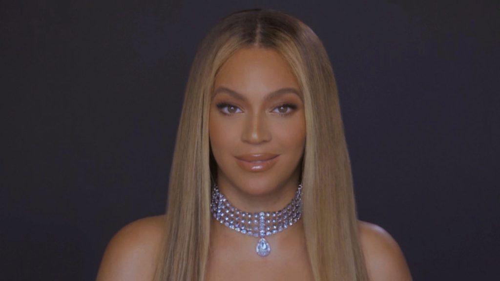 Beyoncé at a virtual award show in June 2020