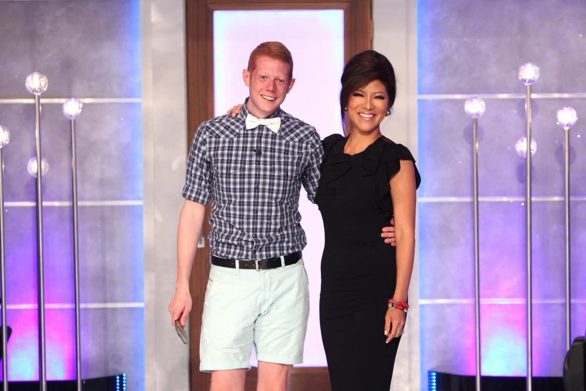 Big Brother Winner, Andy Herren and Host, Julie Chen during the Big Brother Finale
