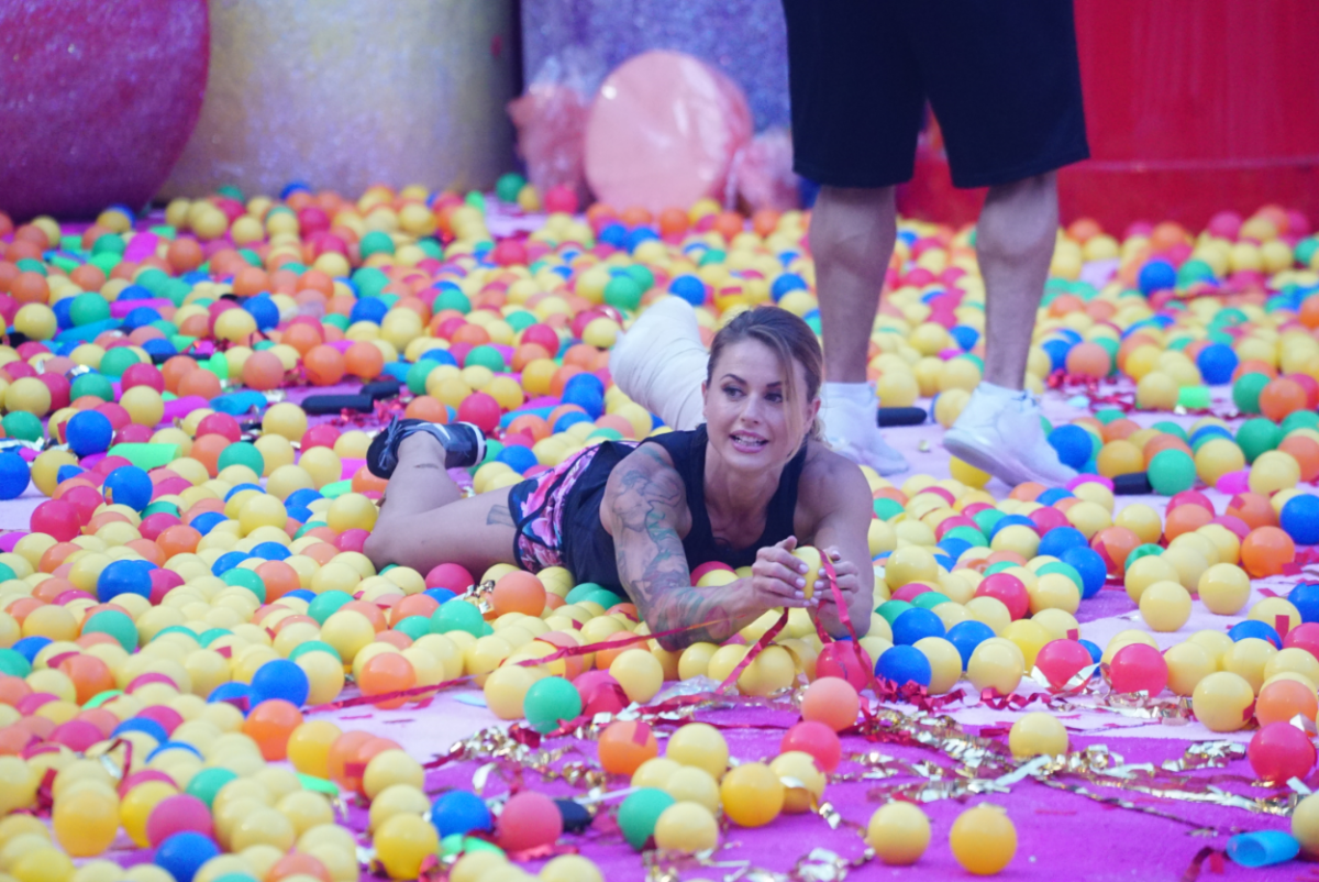 Christmas Abbott competes in Big Brother's HOH Competition Sugar Shot