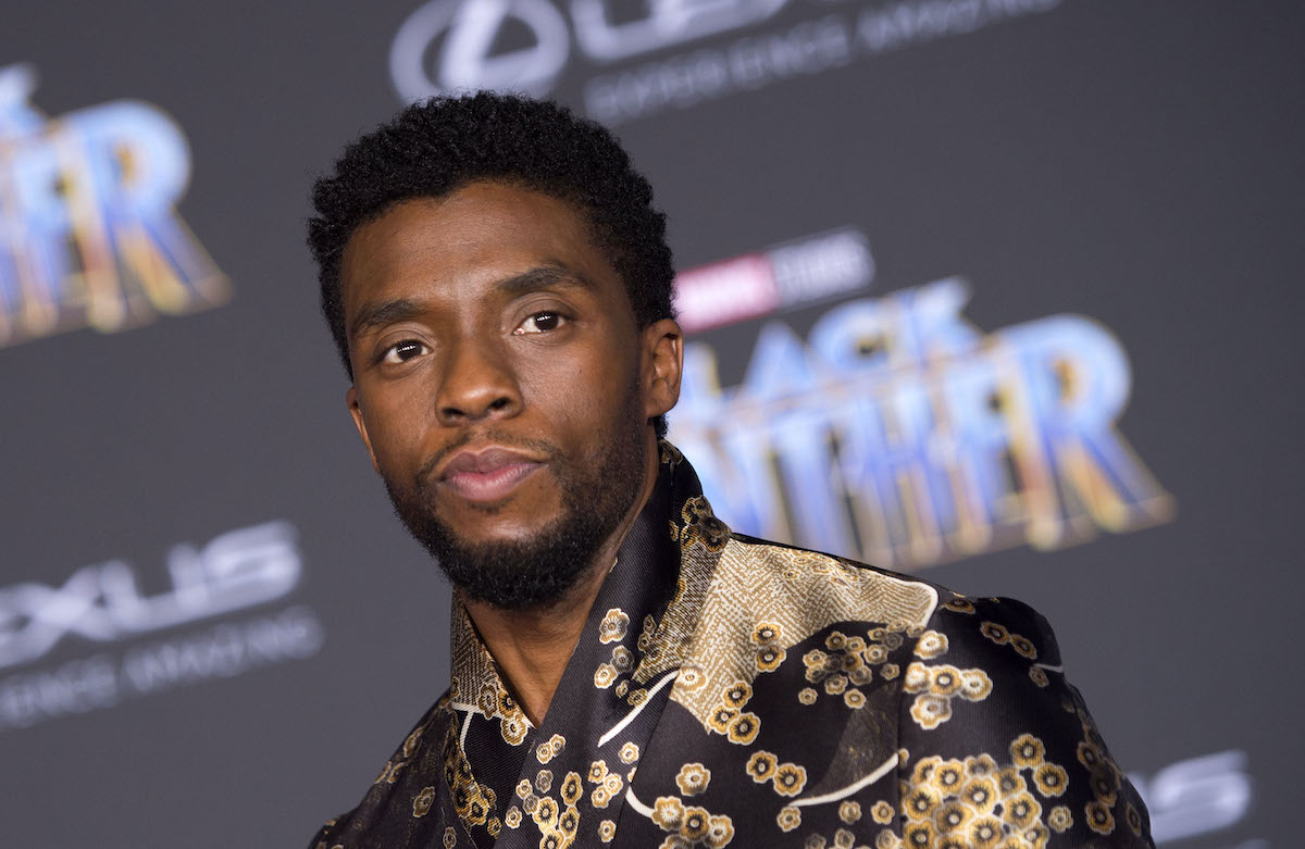 Chadwick Boseman at the 'Black Panther' premiere