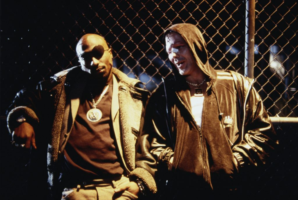 Mickey Rourke and Tupac Shakur in 'Bullet'
