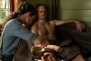 'Outlander' Stars Caitriona Balfe and Sam Heughan Reveal the Worst Parts About Working with Maggots
