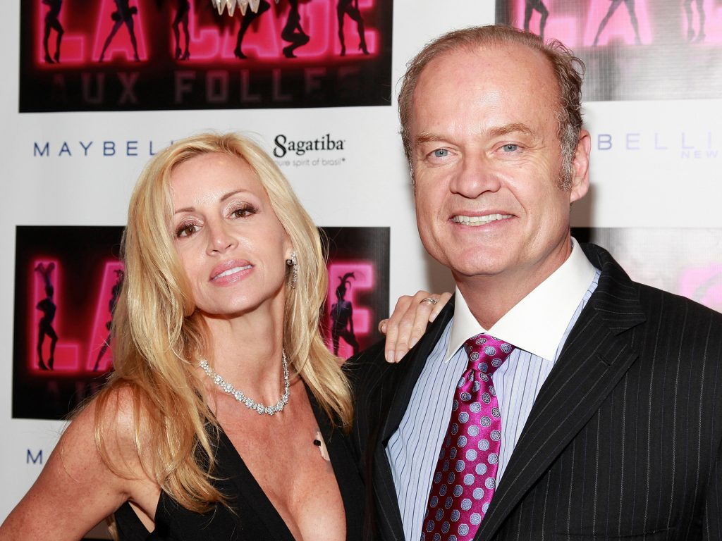 Camille Grammer and Kelsey Grammer attend the after party for the opening of 'La Cage Aux Folles'