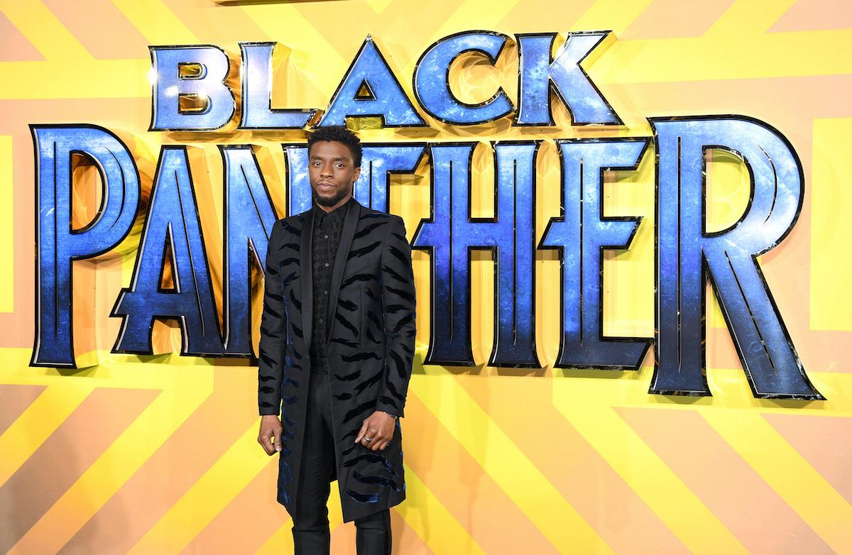 Chadwick Boseman at the European premiere of 'Black Panther'