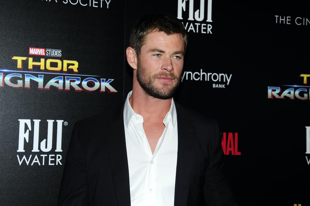 Chris Hemsworth at a 'Thor: Ragnarok' screening