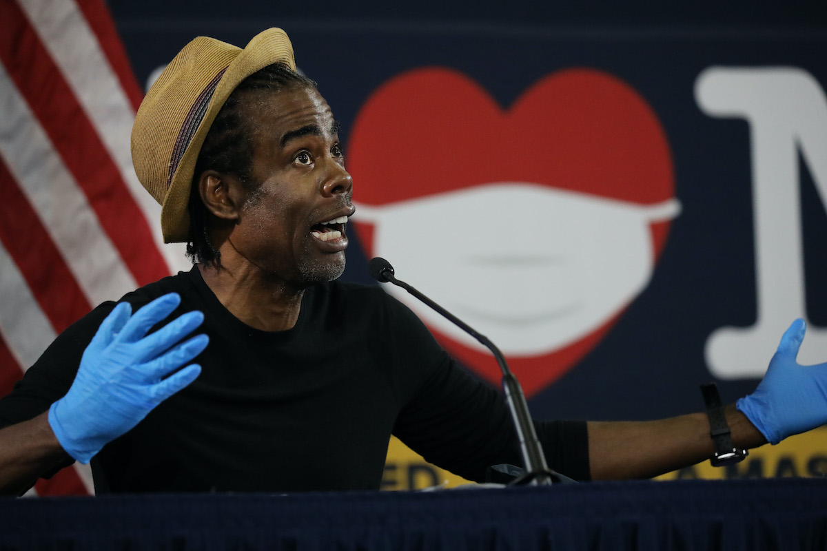 Chris Rock at a press conference