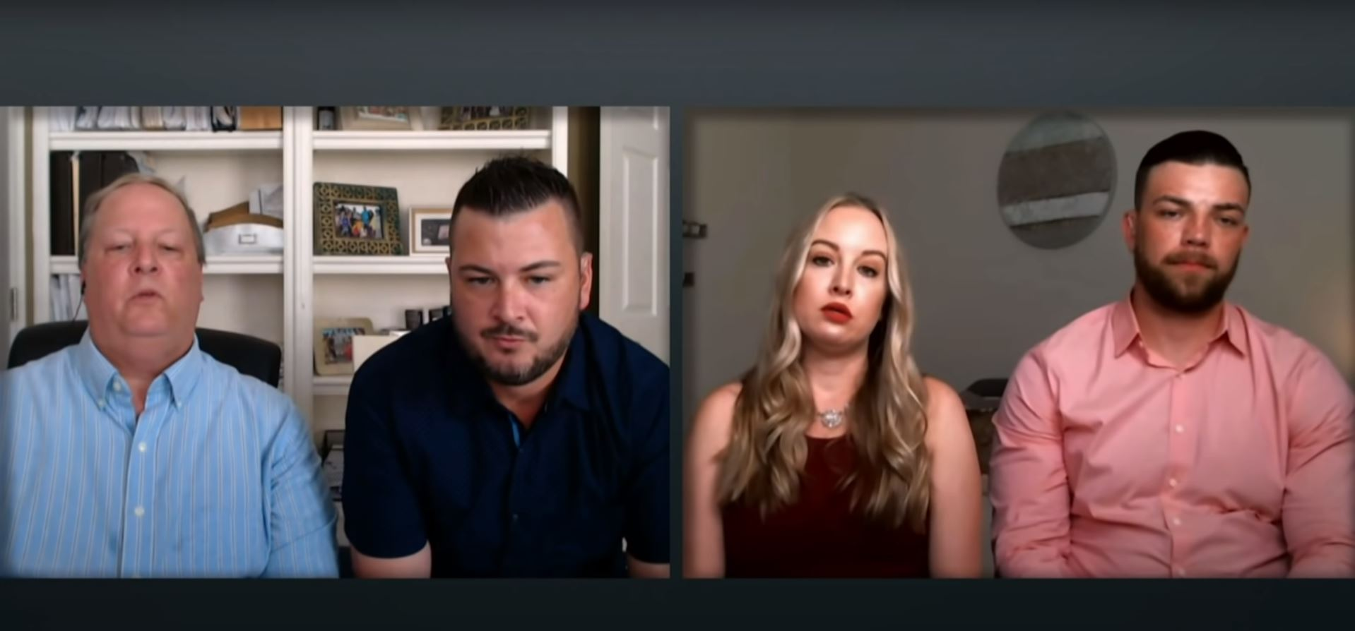 Chuck and Charlie Potthast with Andrei and Elizabeth Castravet on the '90 Day Fiance 'Tell All