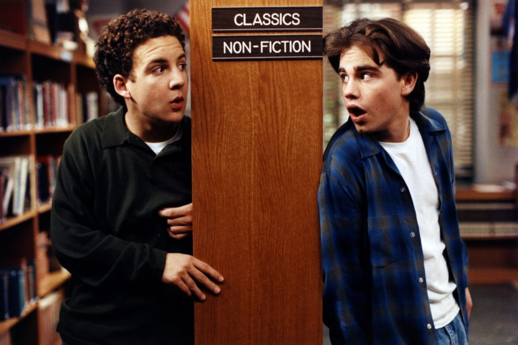 Ben Savage (Cory) and Rider Strong (Shawn) from 'Boy Meets World'
