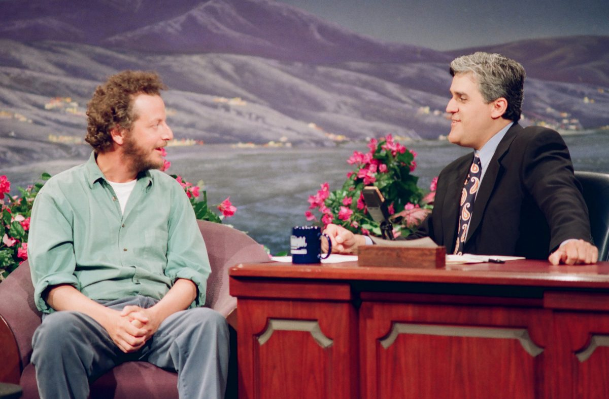 Daniel Stern sits down for an interview with Jay Leno