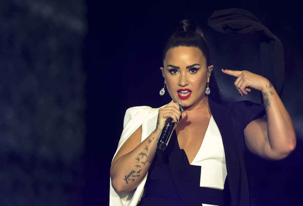 Demi Lovato performs on stage during the Rock in Rio Lisboa music festival at Bela Vista Park in Lisbon