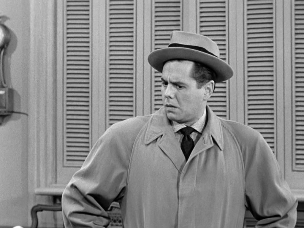 """Desi Arnaz as Ricky Ricardo in the I LOVE LUCY episode, """"Lucy Becomes a Sculptress."""""""