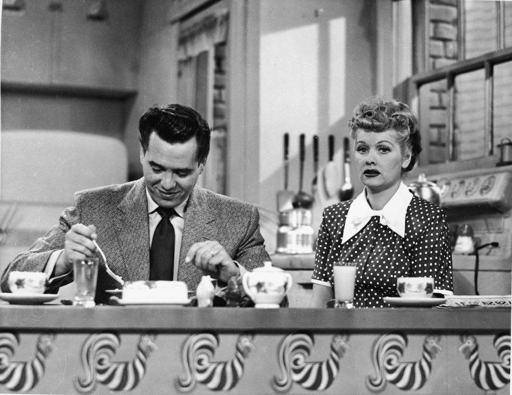 Desi Arnaz and Lucille Ball on 'I Love Lucy'