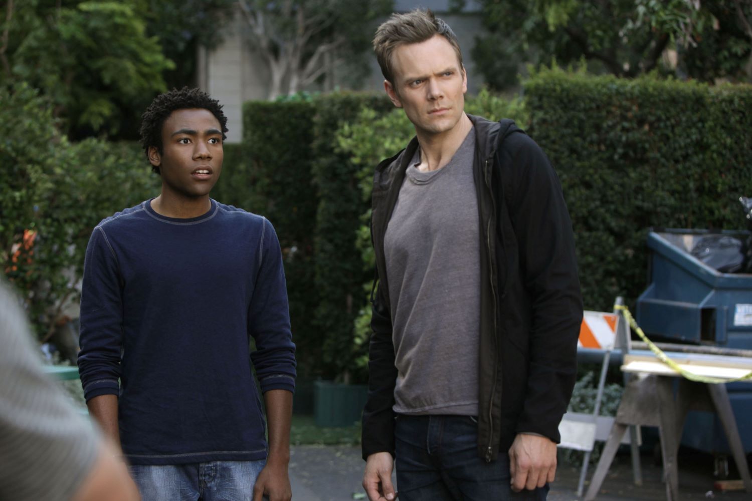 Donald Glover and Joel McHale in 'Community'