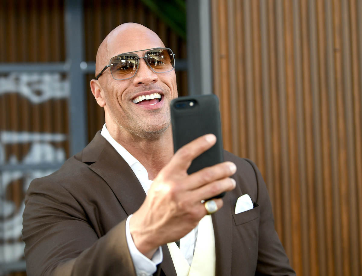 Dwayne Johnson at the premiere of 'Fast & Furious Presents: Hobbs & Shaw'