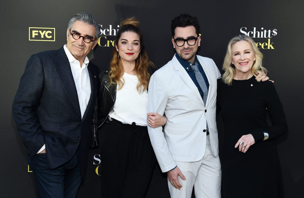 Eugene Levy, Annie Murphy, Dan Levy, and Catherine O'Hara at a screening of 'Schitt's Creek'