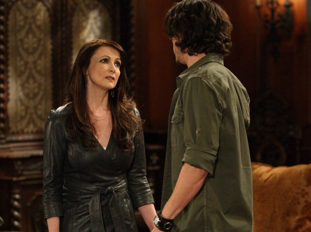 (L-R) Emma Samms (Holly) and Nathan Parsons (Ethan)