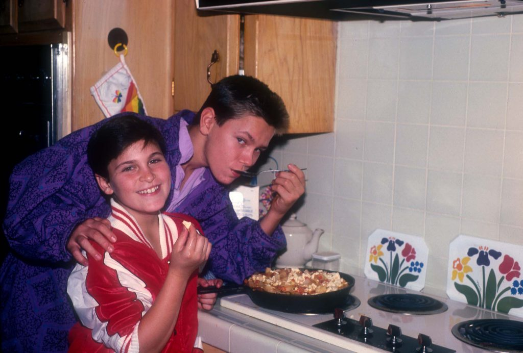 Joaquin Phoenix, left, and his older brother, River
